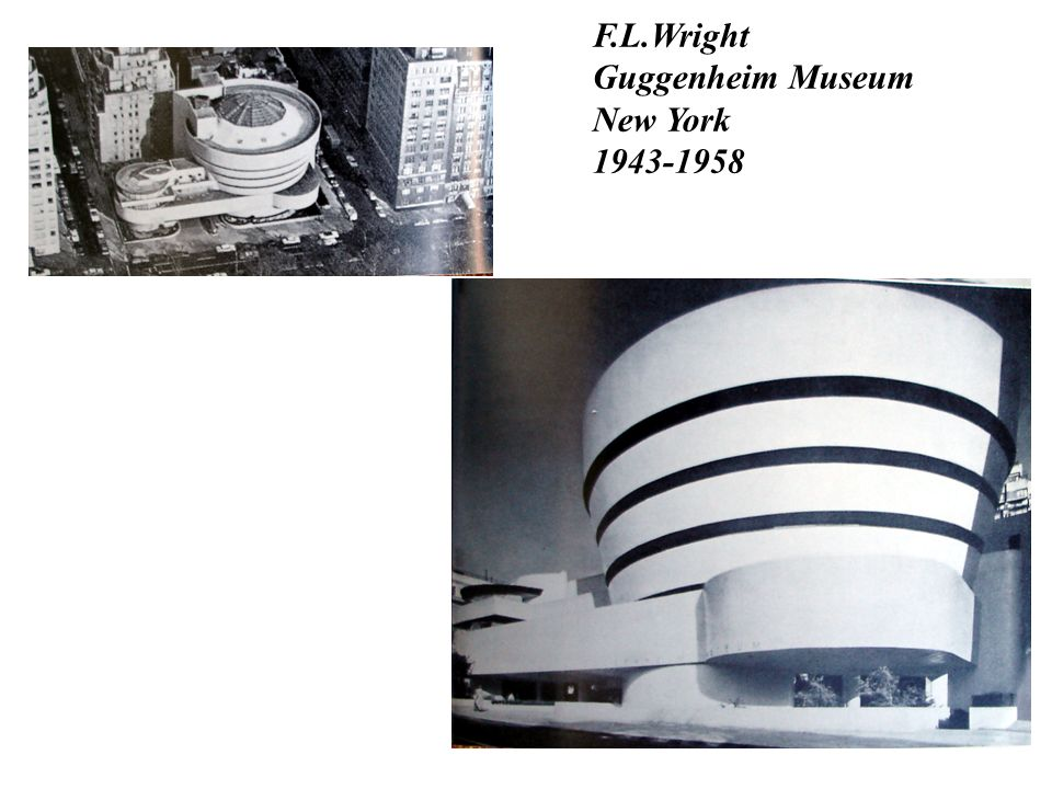 F.L.Wright Guggenheim Museum New York 1943-1958