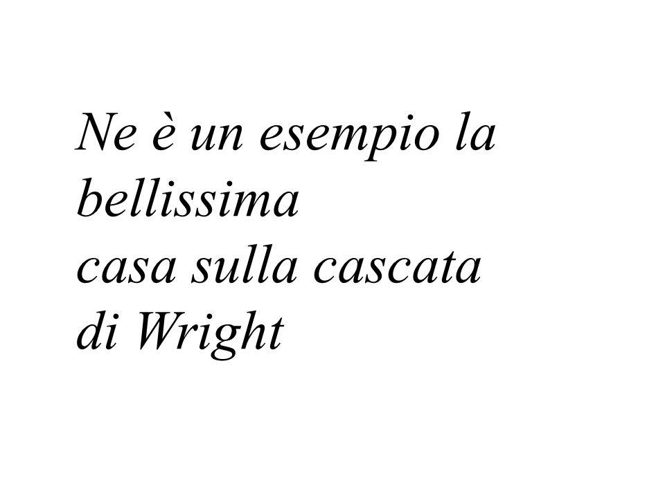 Ne è un esempio la bellissima casa sulla cascata di Wright