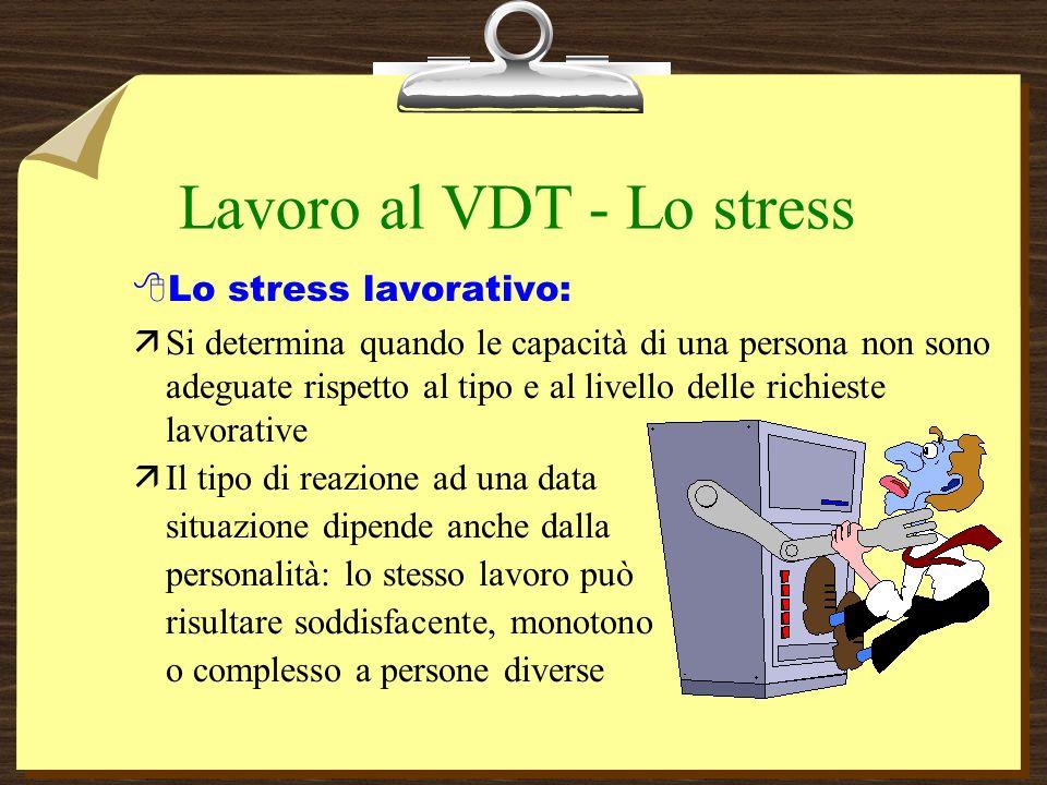 Lavoro al VDT - Lo stress