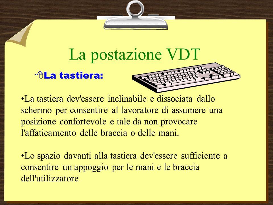 La postazione VDT La tastiera: