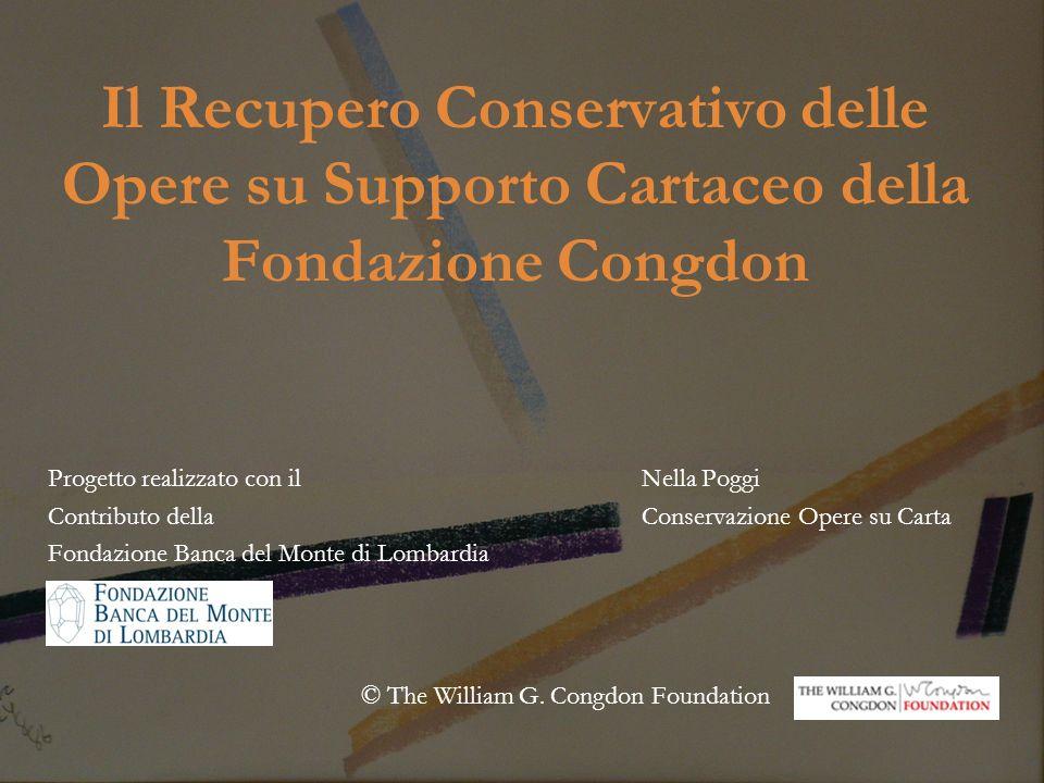 Il Recupero Conservativo delle Opere su Supporto Cartaceo della Fondazione Congdon