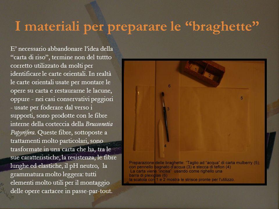 I materiali per preparare le braghette