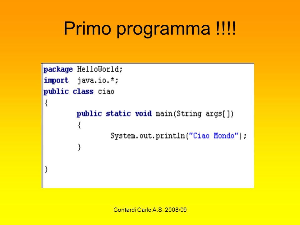 Primo programma !!!! Contardi Carlo A.S. 2008/09