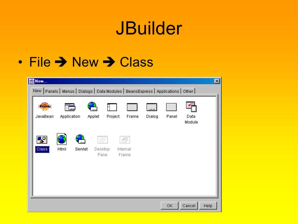 JBuilder File  New  Class Contardi Carlo A.S. 2008/09