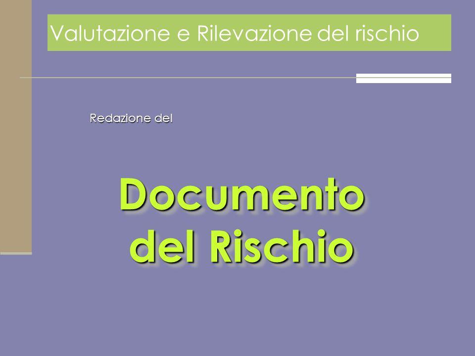 Documento del Rischio Valutazione e Rilevazione del rischio