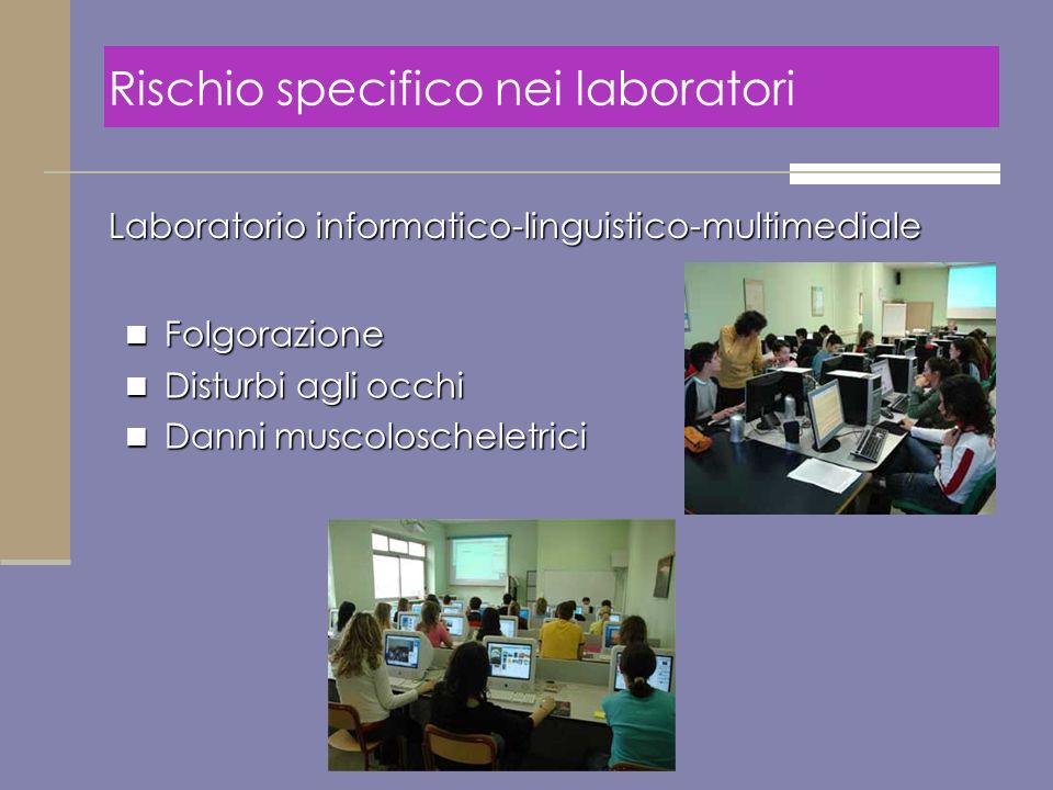 Rischio specifico nei laboratori