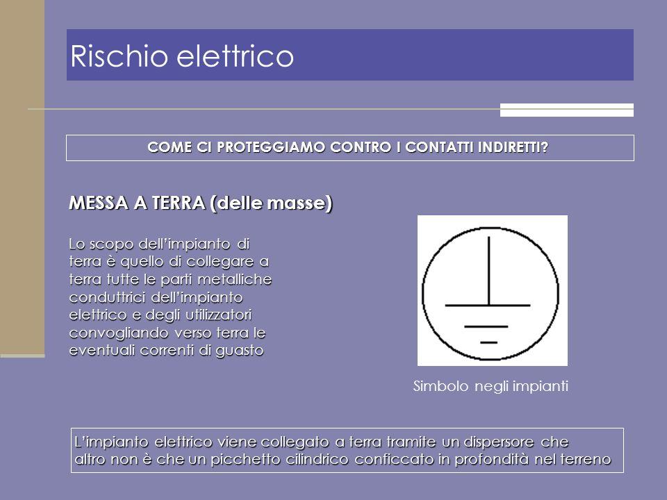 Rischio elettrico MESSA A TERRA (delle masse)