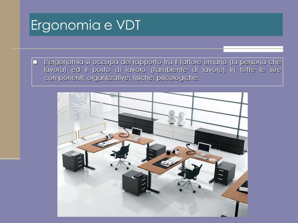 Ergonomia e VDT