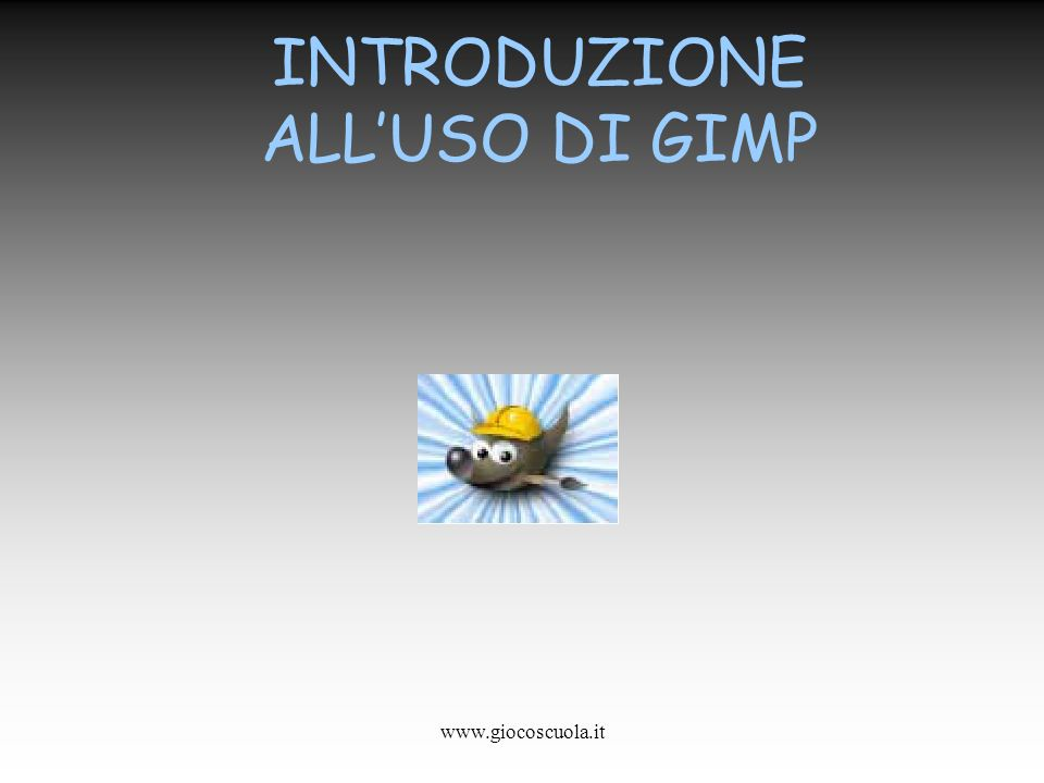 INTRODUZIONE ALL'USO DI GIMP