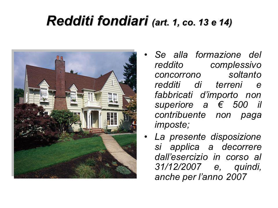 Redditi fondiari (art. 1, co. 13 e 14)