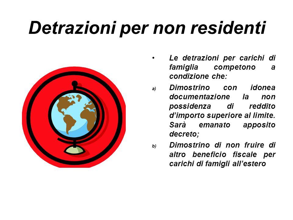 Detrazioni per non residenti