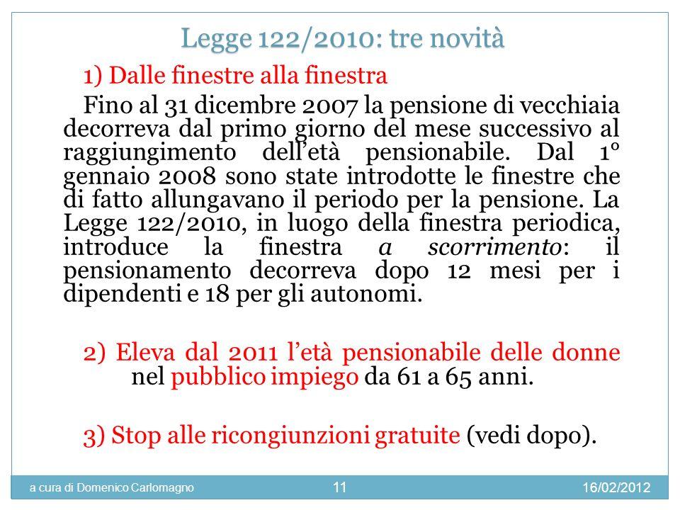 Legge 122/2010: tre novità