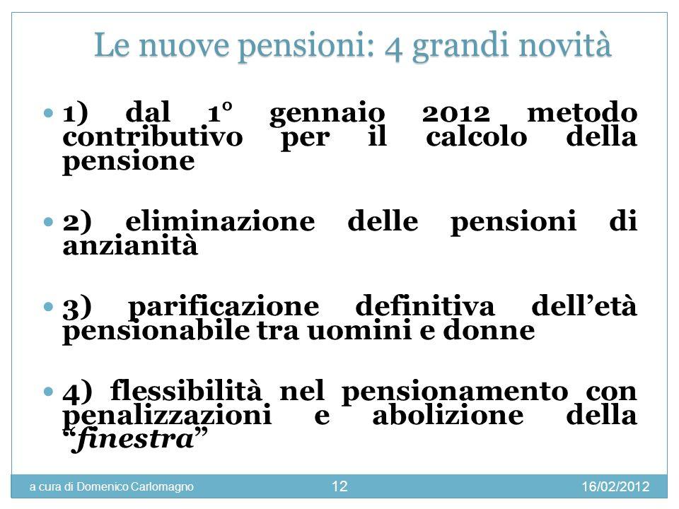 Le nuove pensioni: 4 grandi novità