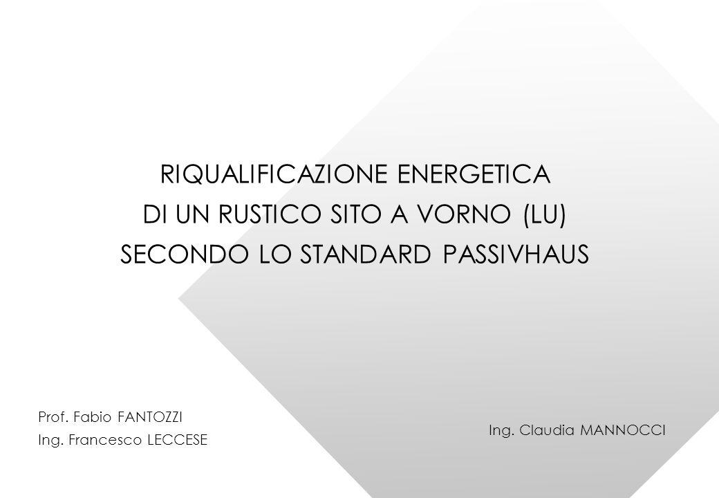 RIQUALIFICAZIONE ENERGETICA DI UN RUSTICO SITO A VORNO (LU)