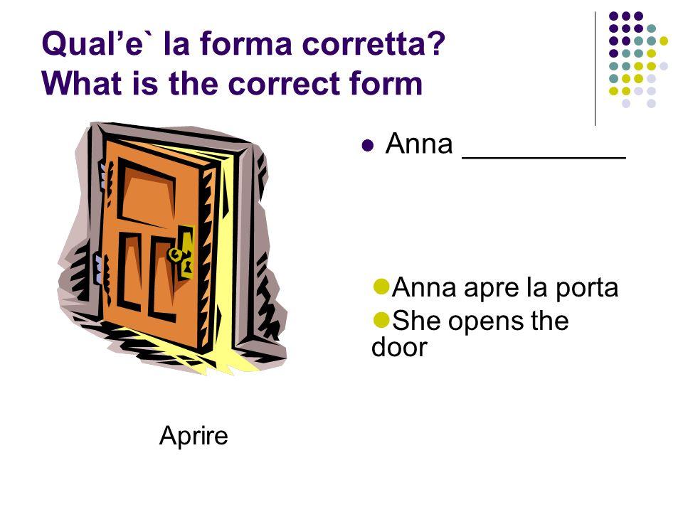 Qual'e` la forma corretta What is the correct form