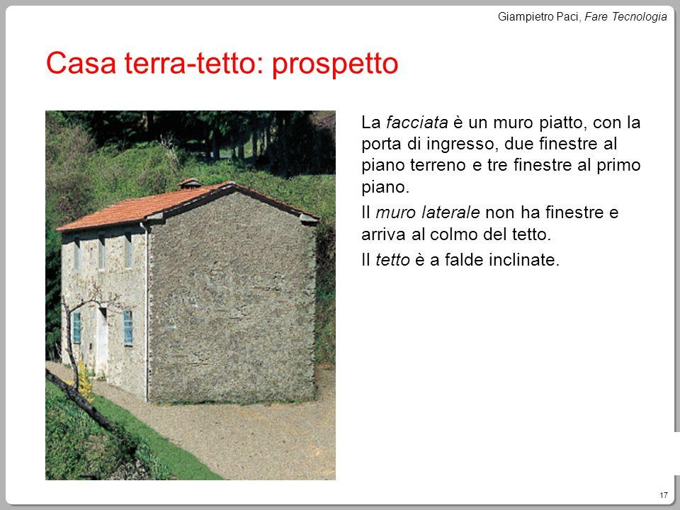 Casa terra-tetto: prospetto