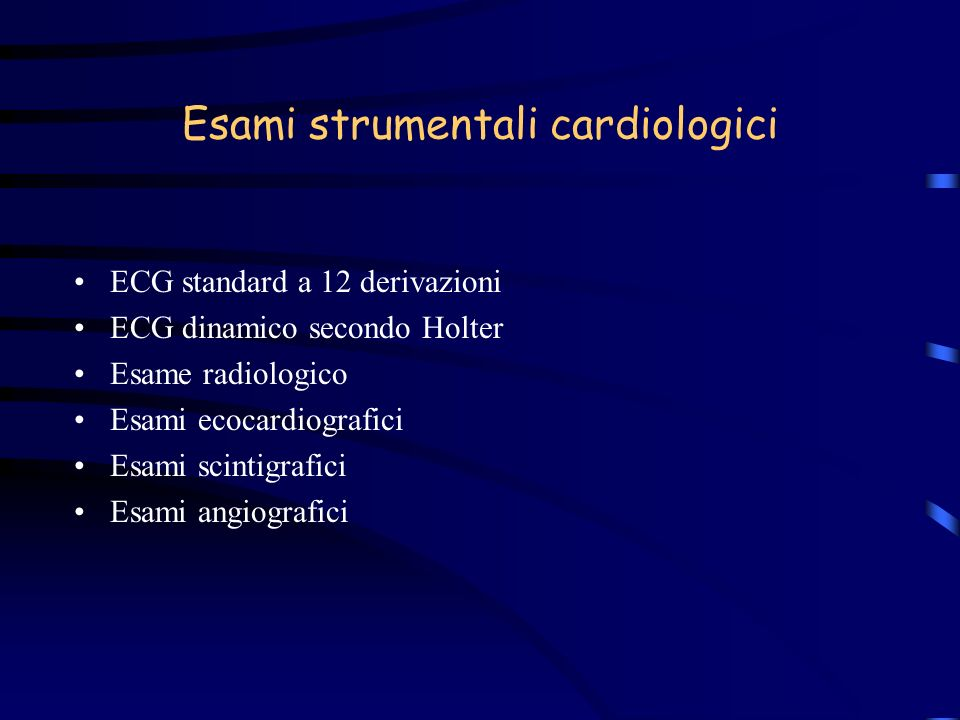 Esami strumentali cardiologici