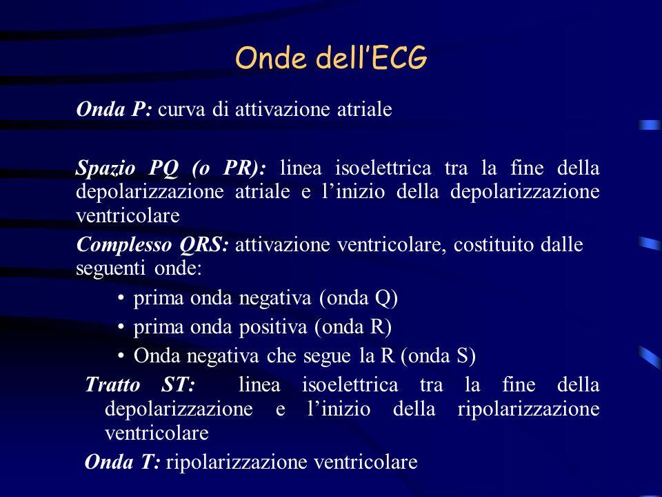 Onde dell'ECG Onda P: curva di attivazione atriale
