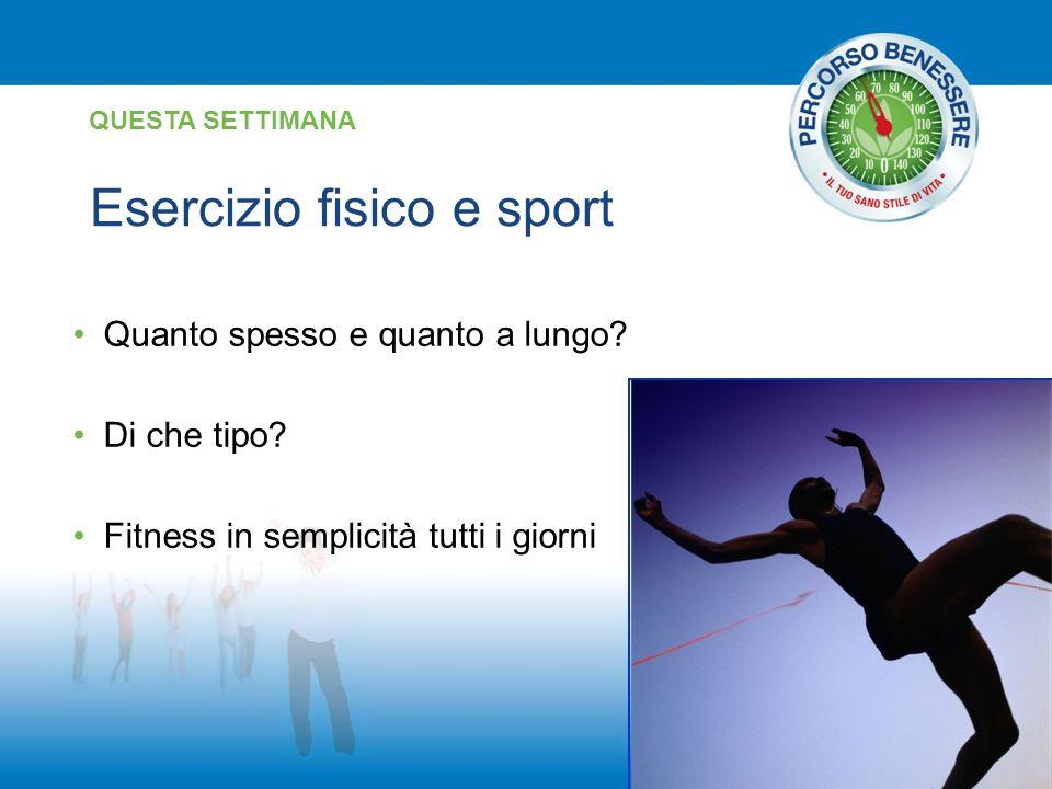 Esercizio fisico e sport