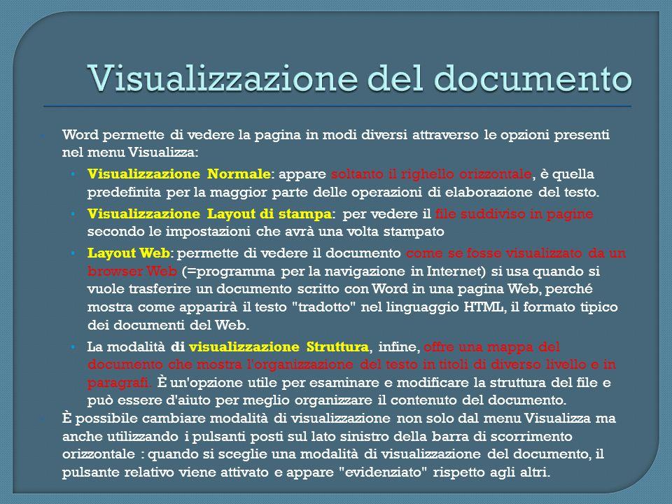 Visualizzazione del documento