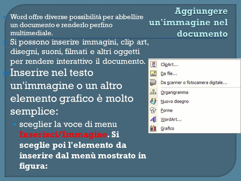 Aggiungere un immagine nel documento