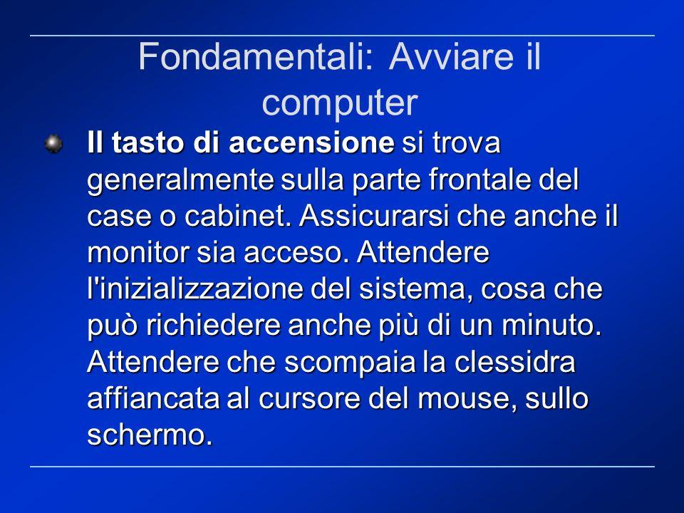 Fondamentali: Avviare il computer