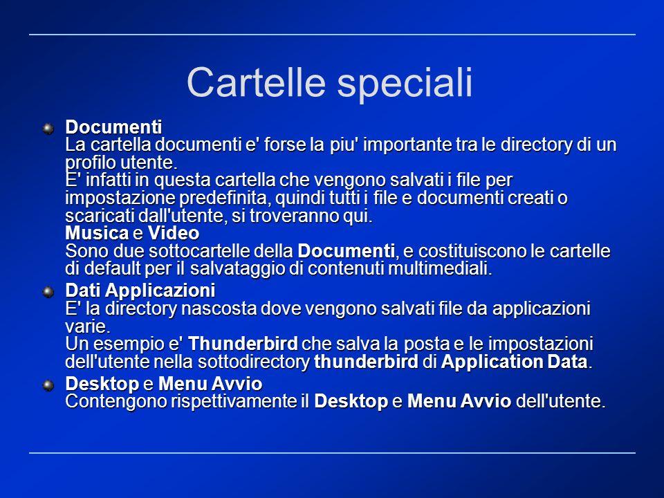 Cartelle speciali