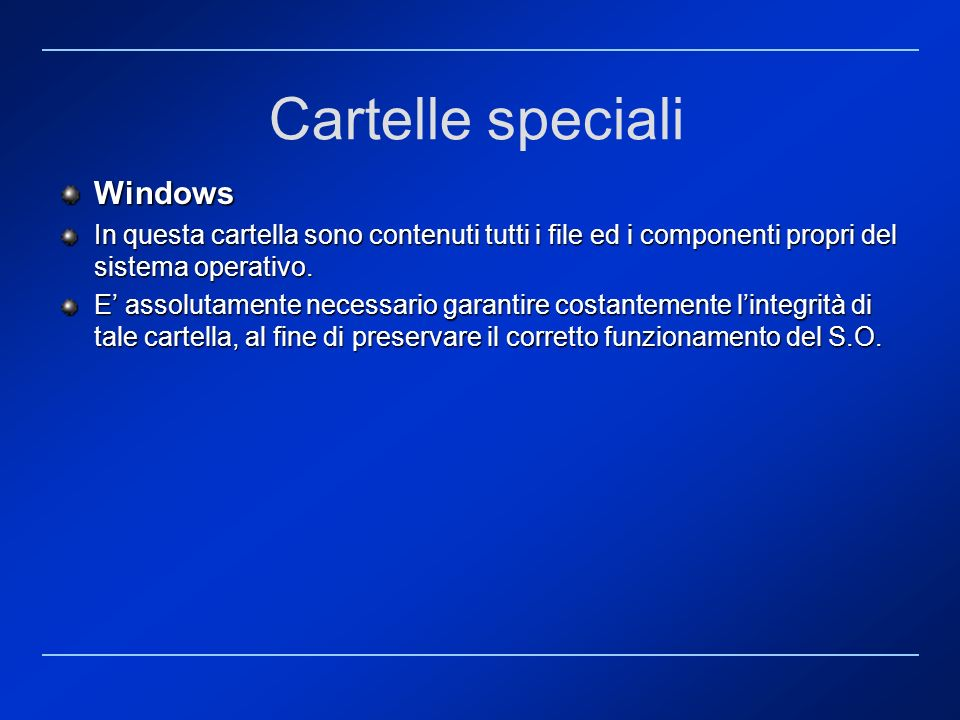 Cartelle speciali Windows