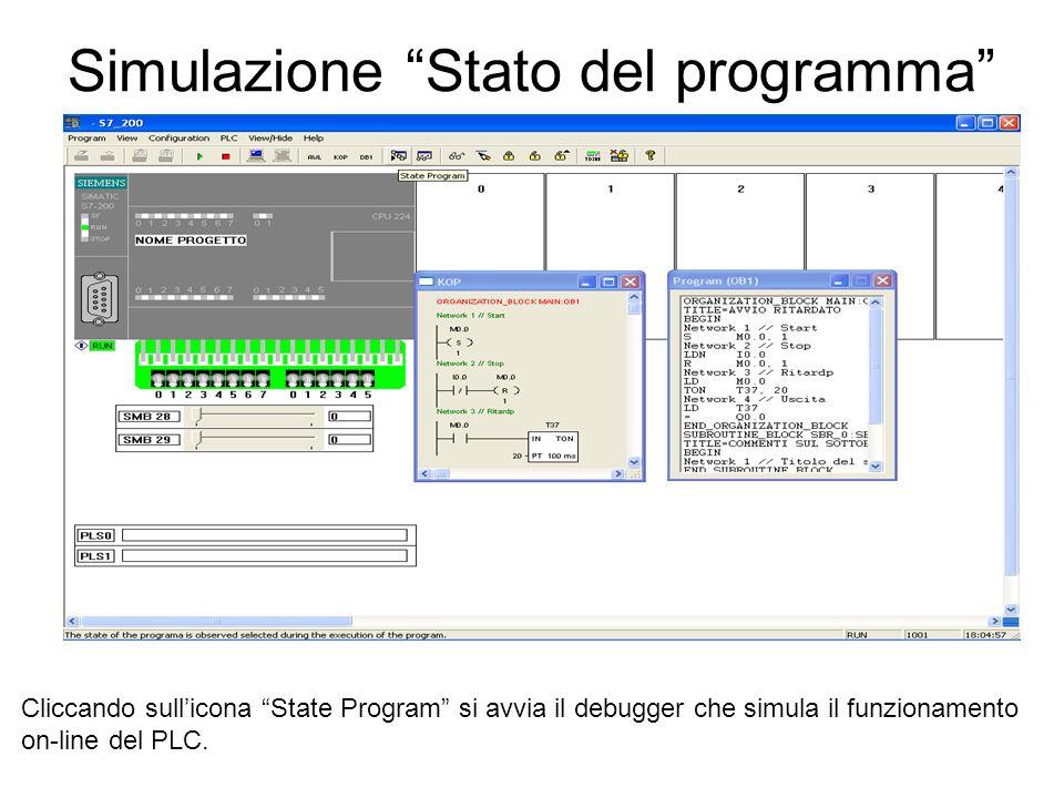 Simulazione Stato del programma