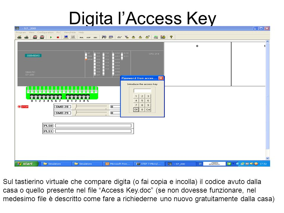 Digita l'Access Key