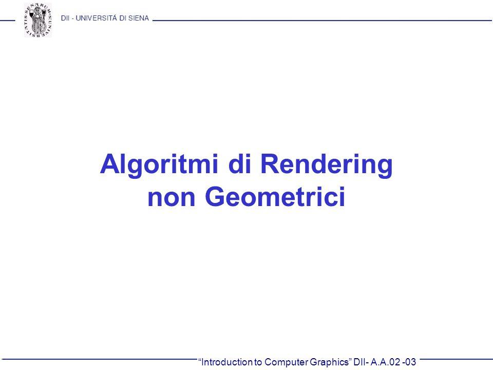 Algoritmi di Rendering