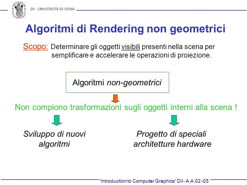 Algoritmi di Rendering non geometrici