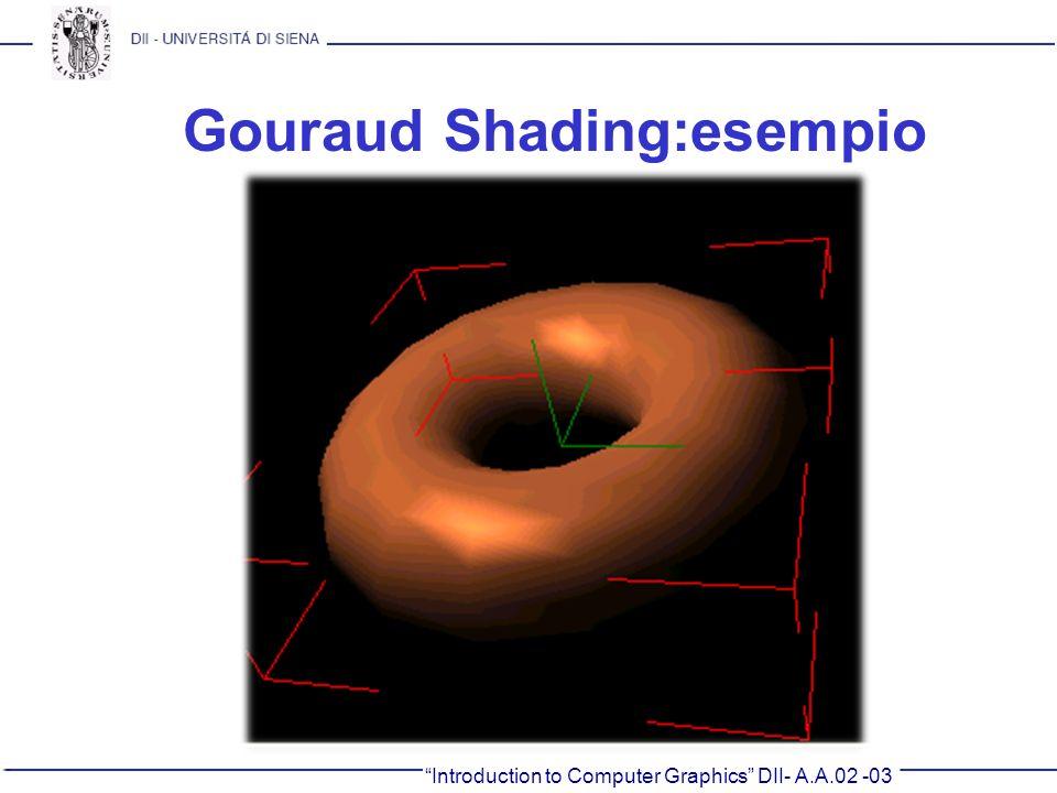 Gouraud Shading:esempio