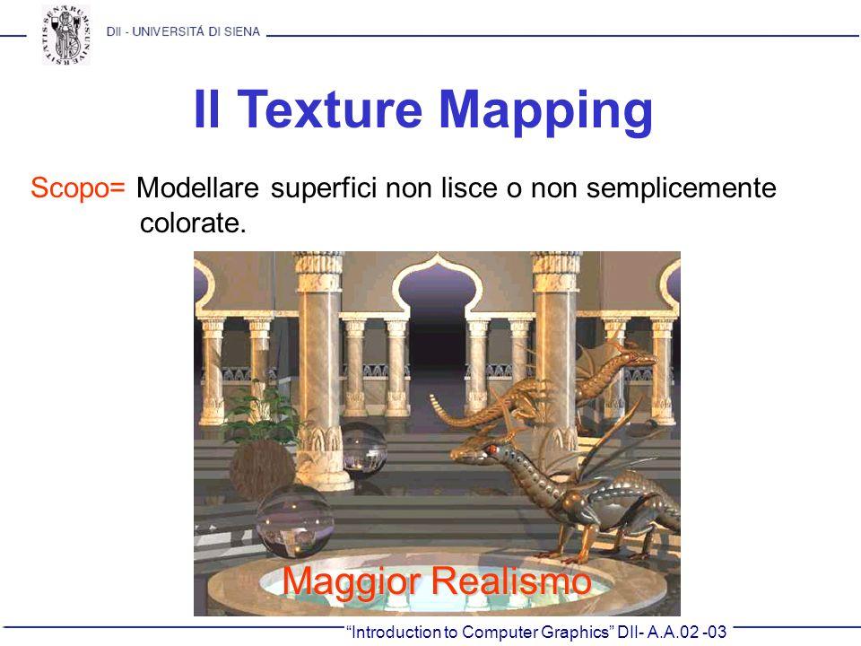 Il Texture Mapping Maggior Realismo