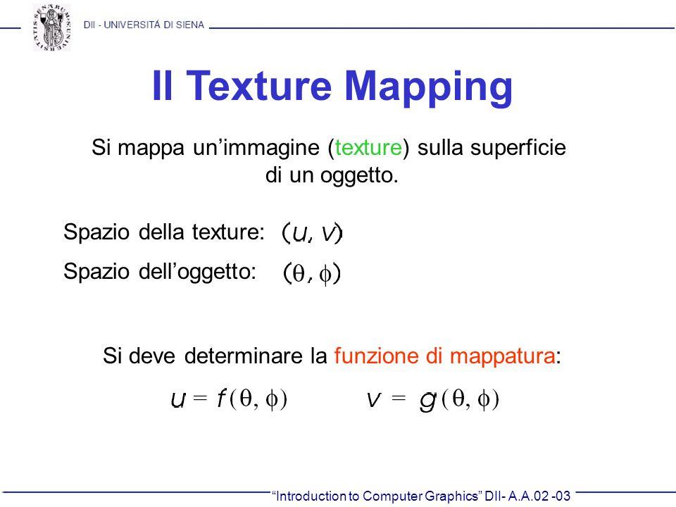 Si mappa un'immagine (texture) sulla superficie