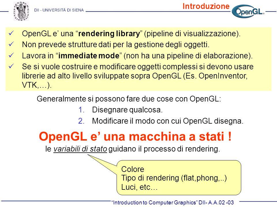 OpenGL e' una macchina a stati !