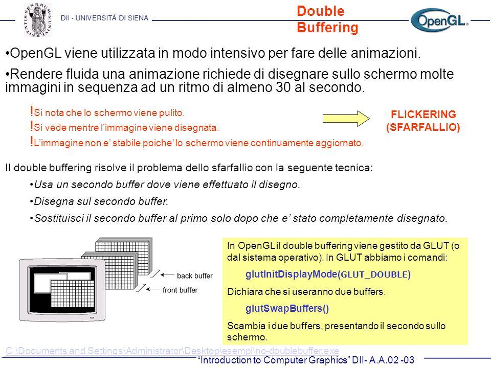 OpenGL viene utilizzata in modo intensivo per fare delle animazioni.