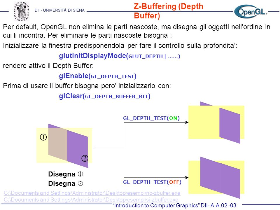   Z-Buffering (Depth Buffer)