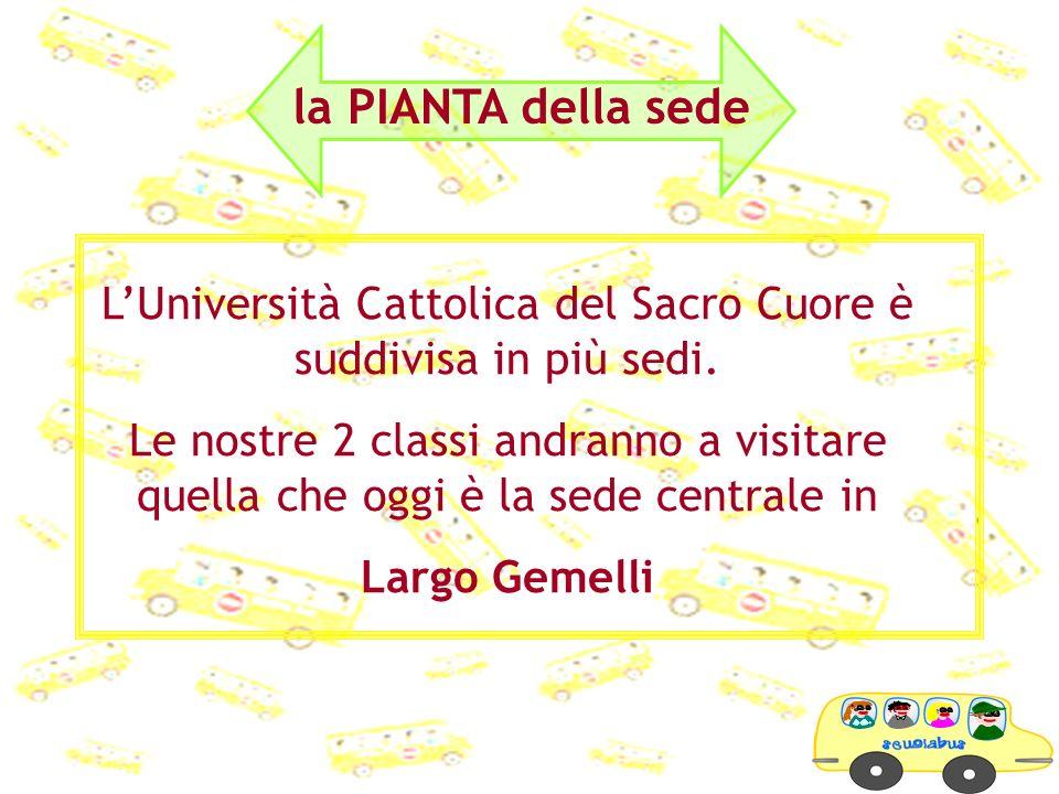 L'Università Cattolica del Sacro Cuore è suddivisa in più sedi.