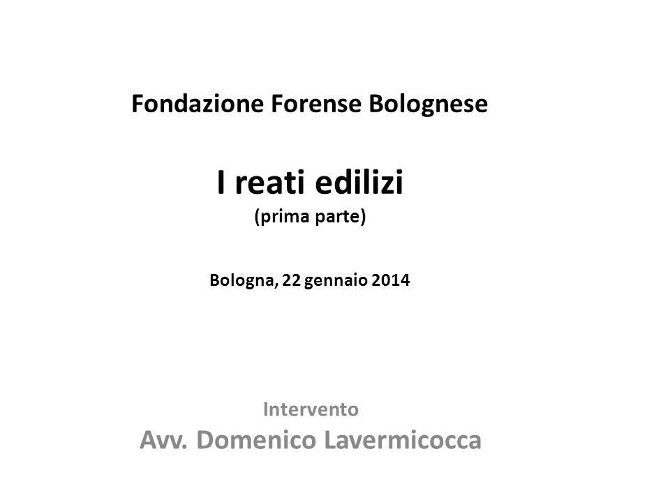 Intervento Avv. Domenico Lavermicocca