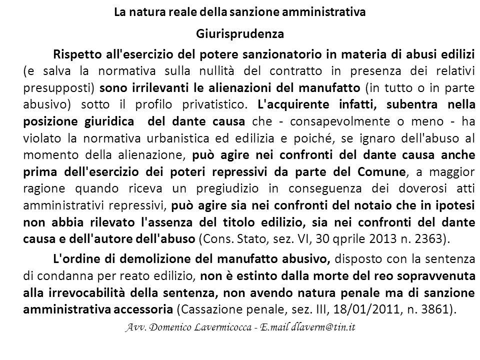 La natura reale della sanzione amministrativa