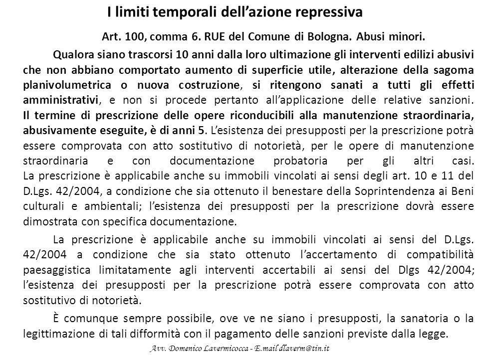 I limiti temporali dell'azione repressiva