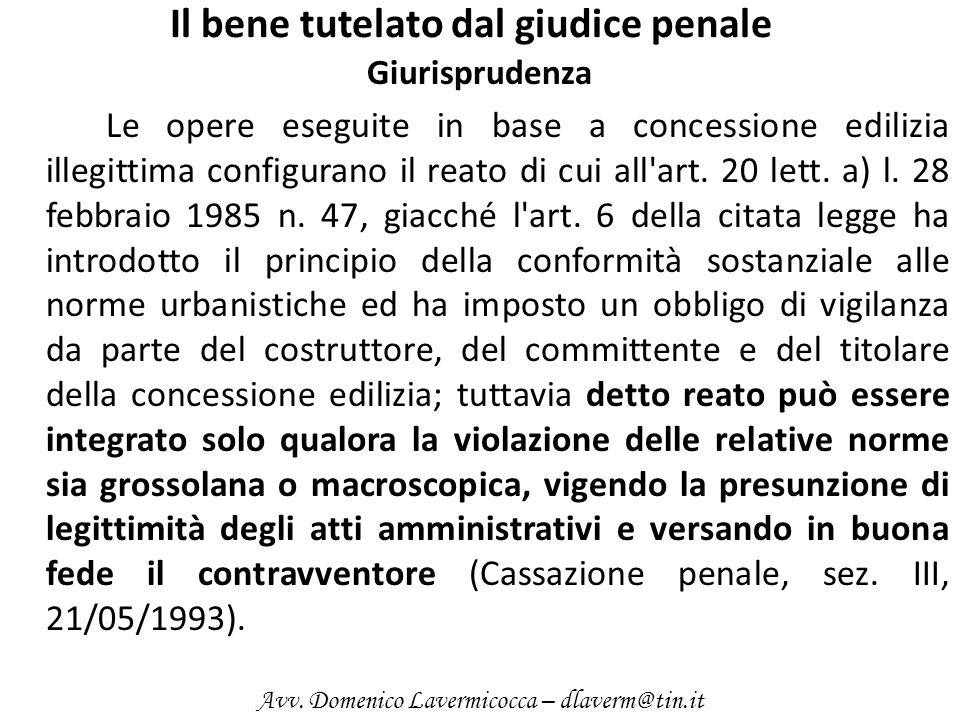 Il bene tutelato dal giudice penale