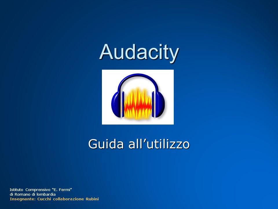 Audacity Guida all'utilizzo Istituto Comprensivo E. Fermi