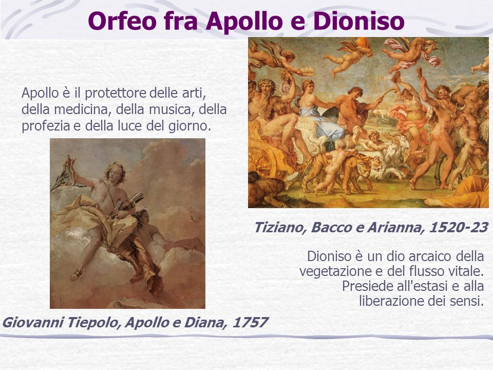 Orfeo fra Apollo e Dioniso