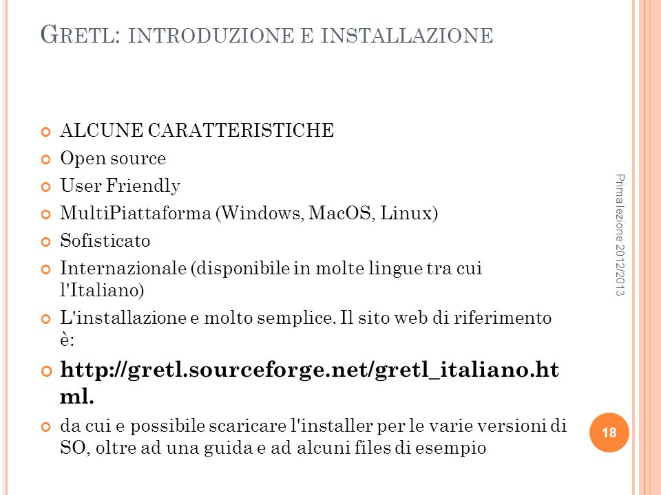 Gretl: introduzione e installazione