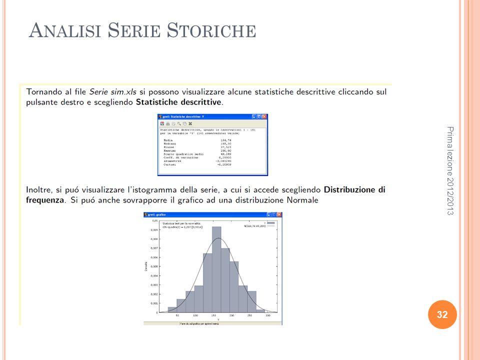 Analisi Serie Storiche