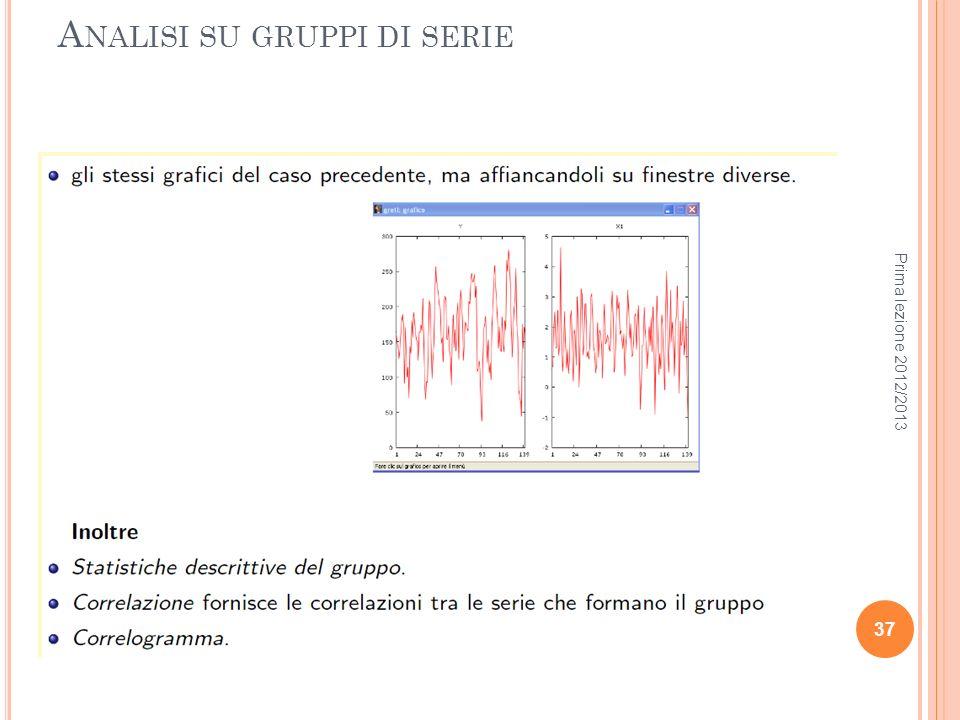 Analisi su gruppi di serie