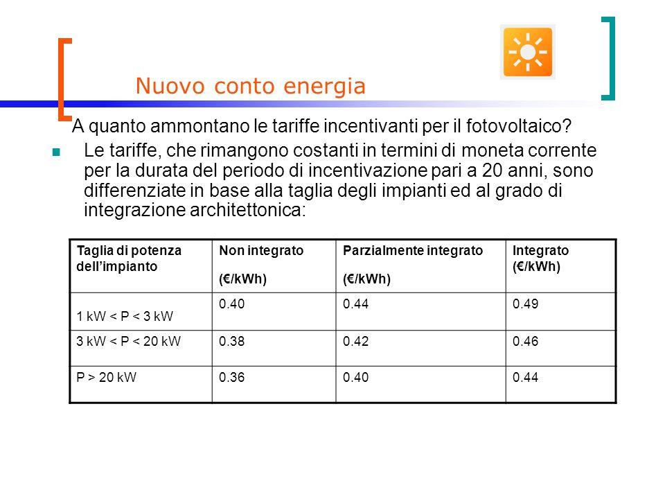 Nuovo conto energia A quanto ammontano le tariffe incentivanti per il fotovoltaico