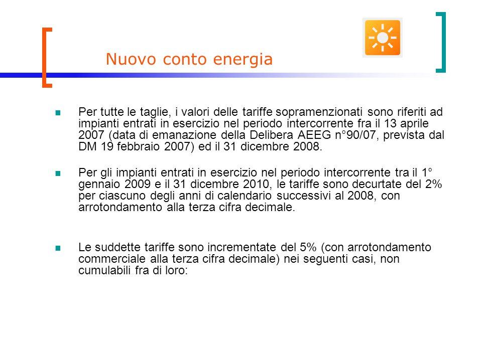 Nuovo conto energia